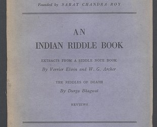 Man in India. A Quarterly Record of Anthropological Science with Special Reference to India. An Indian Riddle Book. Vol. XXIII. No. 4. December 1943.