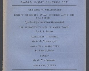 Man in India. A Quarterly Record of Anthropological Science with Special Reference to India. Folk-Songs of Sattisgarh. Vol. XXIV. No. I. March 1944.