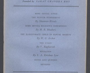 Man in India. A Quarterly Record of Anthropological Science with Special Reference to India. More Santal Songs. Vol. XXIV. No. 3. September 1944.
